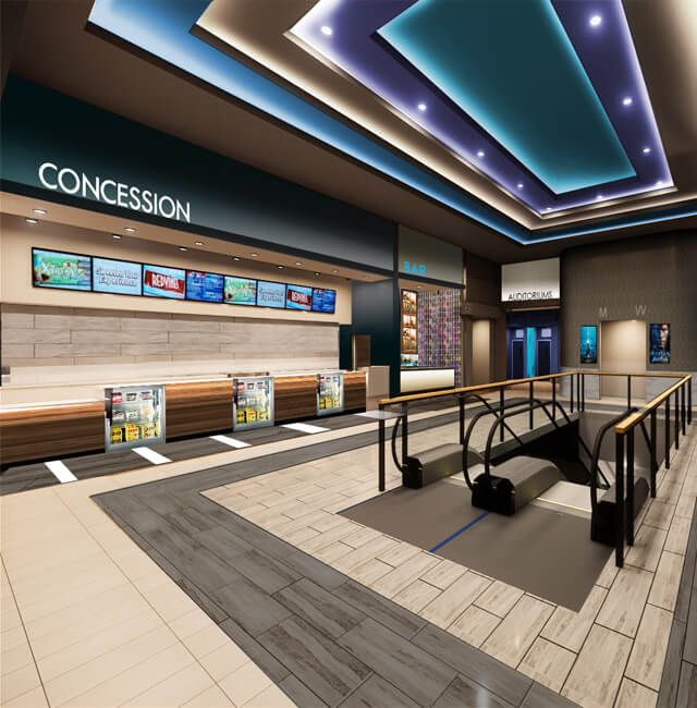 Rendering of second story concessions stand