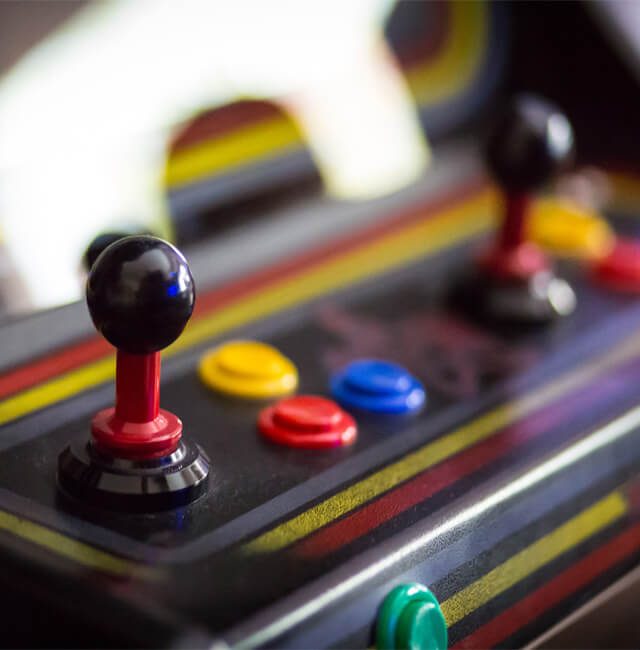 Image of arcade game controllers
