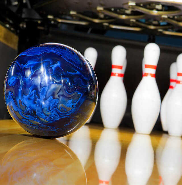 Image of bowling ball and pins