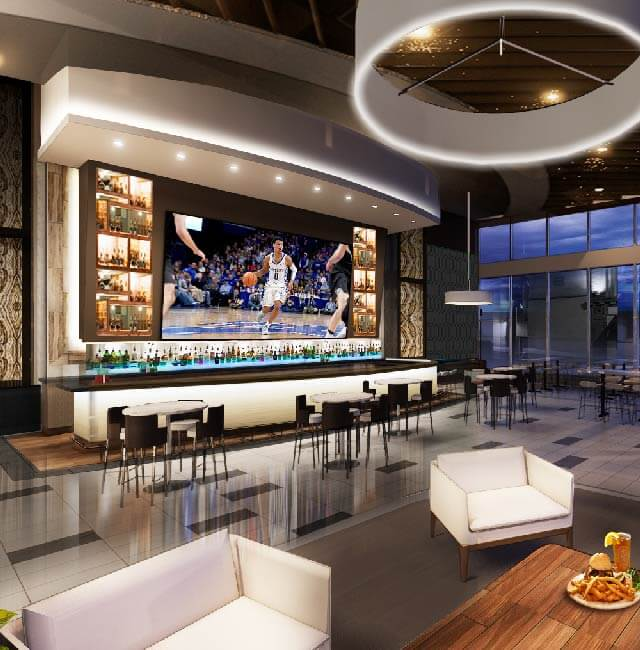 Rendering of Corner Bar