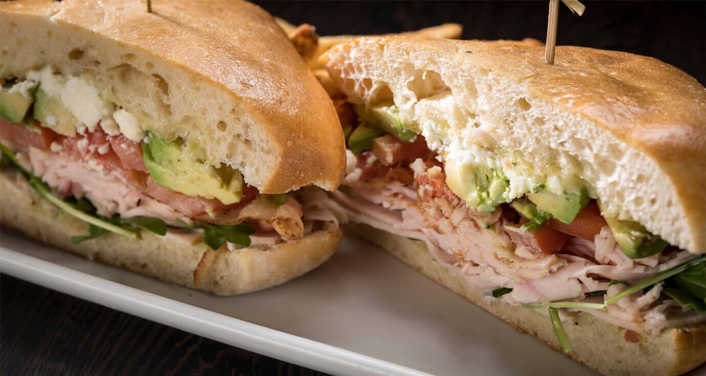 Image of turkey club sandwich